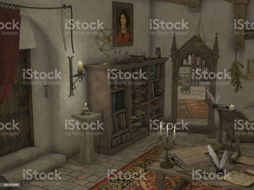Sorcery Room stock photo