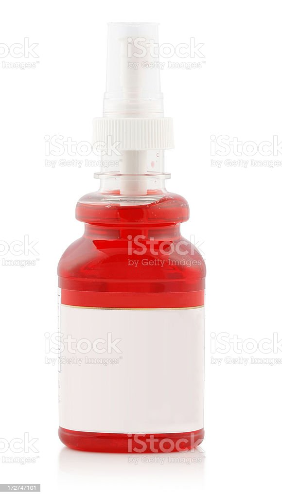 Sore Throat Spray (with clipping path) royalty-free stock photo