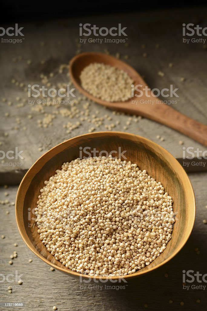 Sorghum  Grains on Wood Background royalty-free stock photo