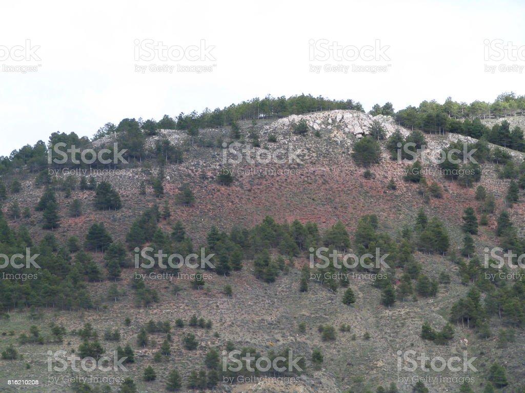Soria landscape again stock photo