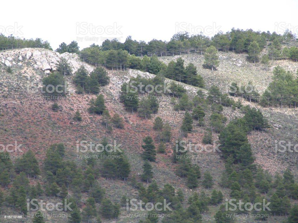 Soria landscape stock photo