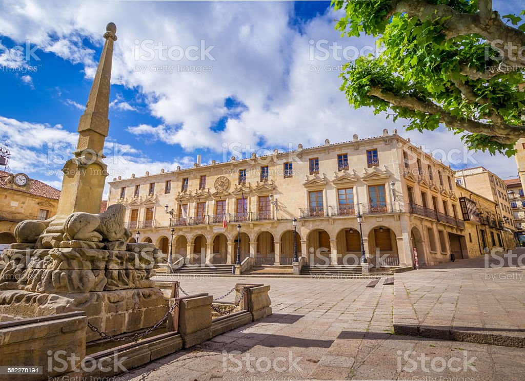 Soria Plaza Mayor stock photo