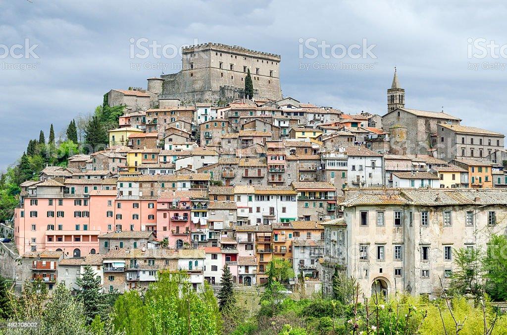Soriano nel Cimino landscape Castello Orsini  Lazio stock photo