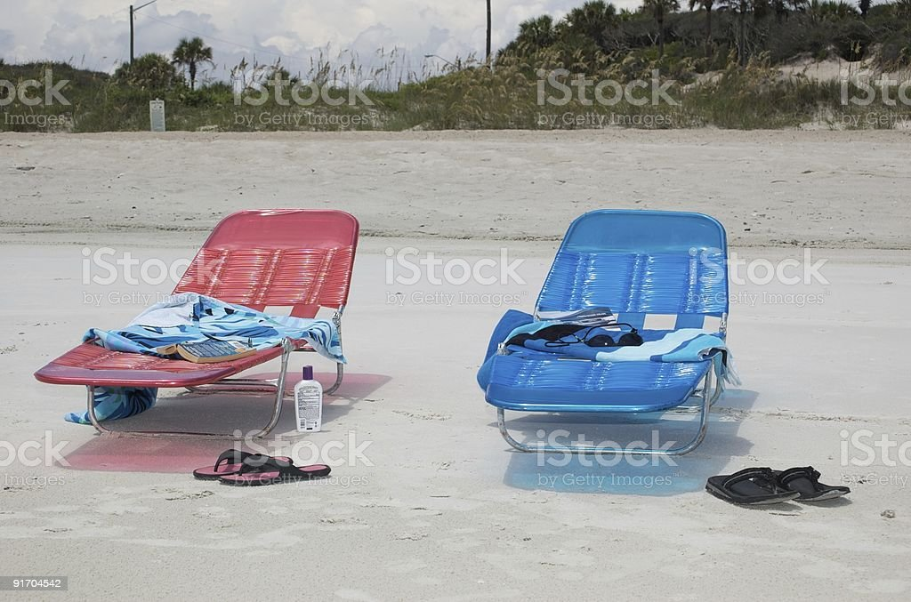 Sorli - Beach Chairs 1 royalty-free stock photo