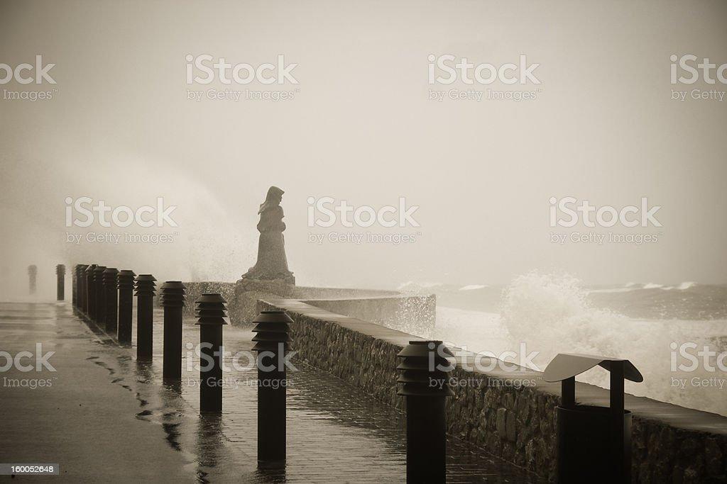 Sorm and sea stock photo