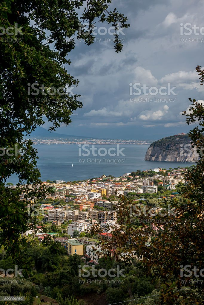 Sorrento and The Bay of Naples stock photo