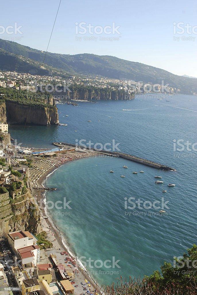 Sorrento coast royalty-free stock photo