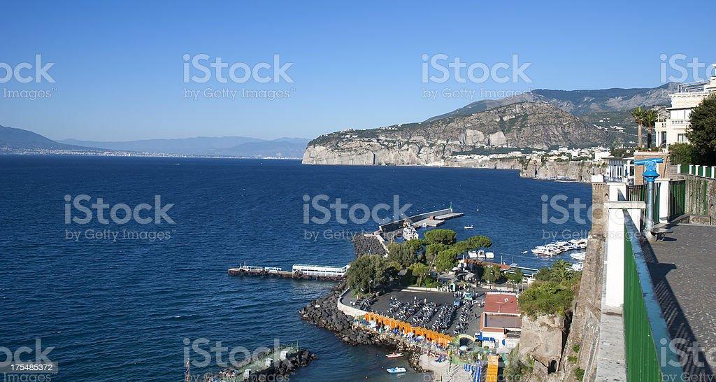 Sorrento coast scenic, Sea stock photo