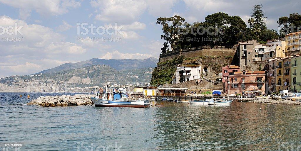 Sorrento Marina Grande stock photo