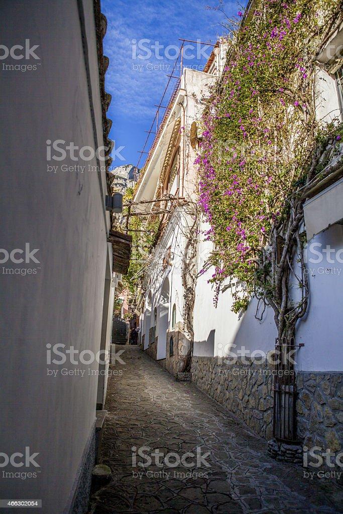 Sorrento street stock photo