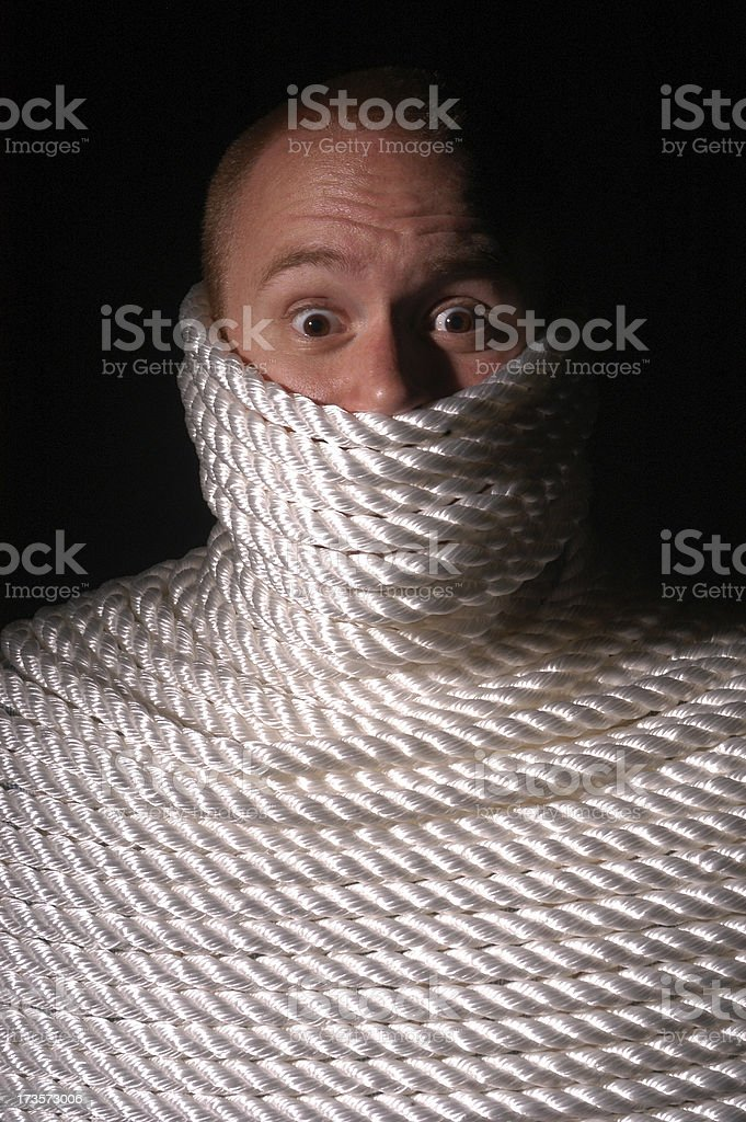 Sorry, I'm tied up at the moment royalty-free stock photo