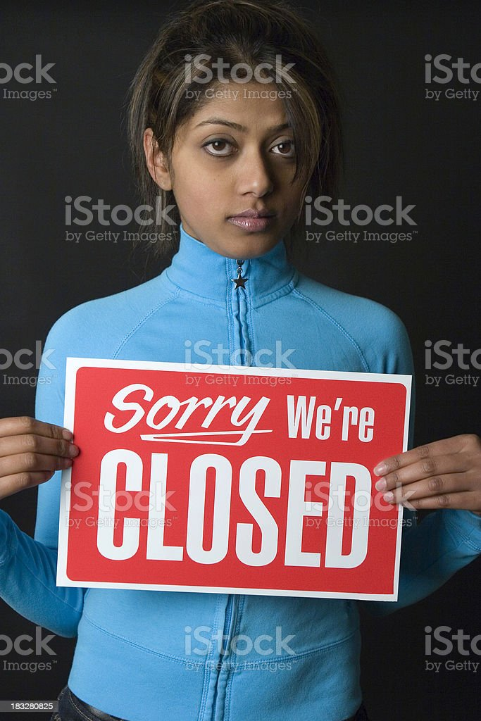Sorry - We are closed royalty-free stock photo