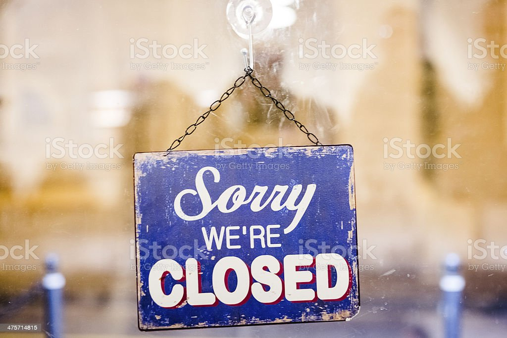 Sorry we are Closed stock photo