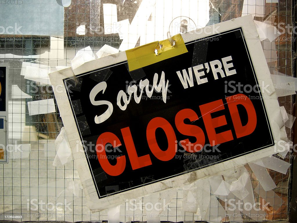 Sorry, we're closed royalty-free stock photo