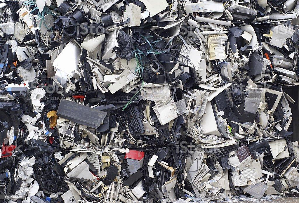 Sorted plastic waste stock photo