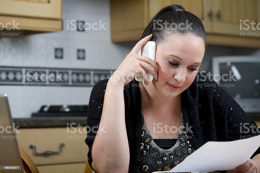 sorting finances stock photo
