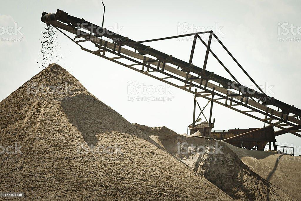 Sorting sand belt stock photo
