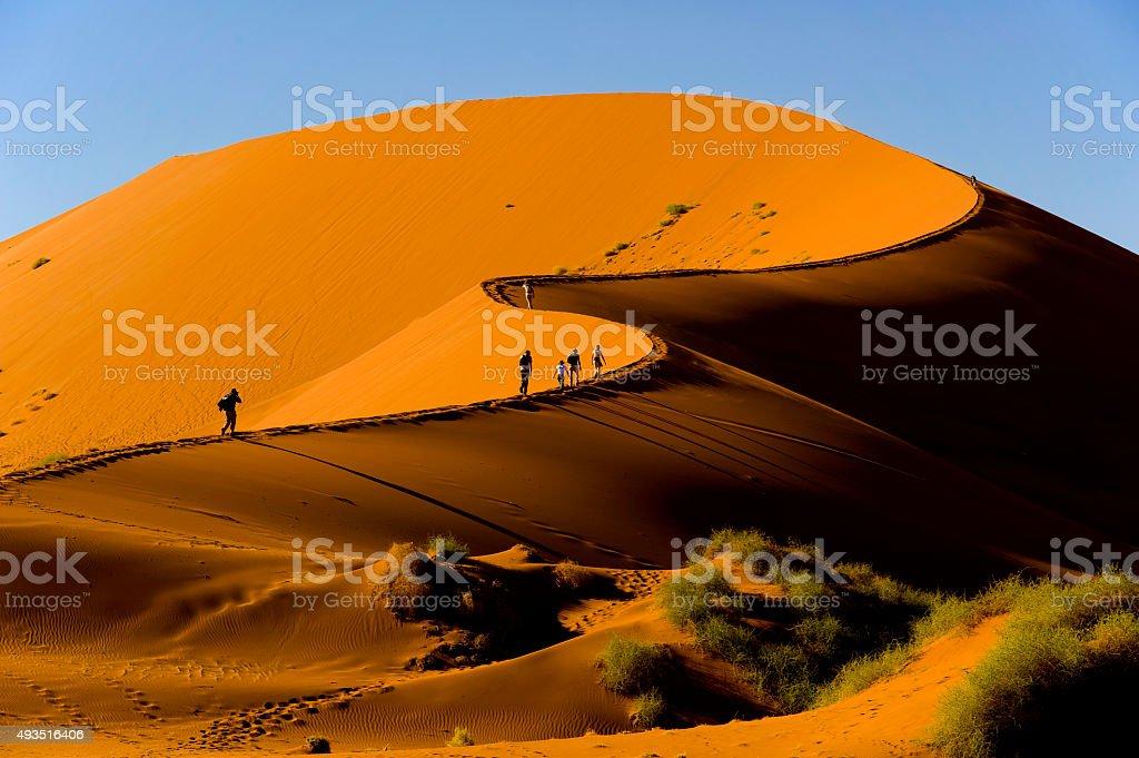 Sossusvlei dune, Naukluft National Park, Namibia stock photo