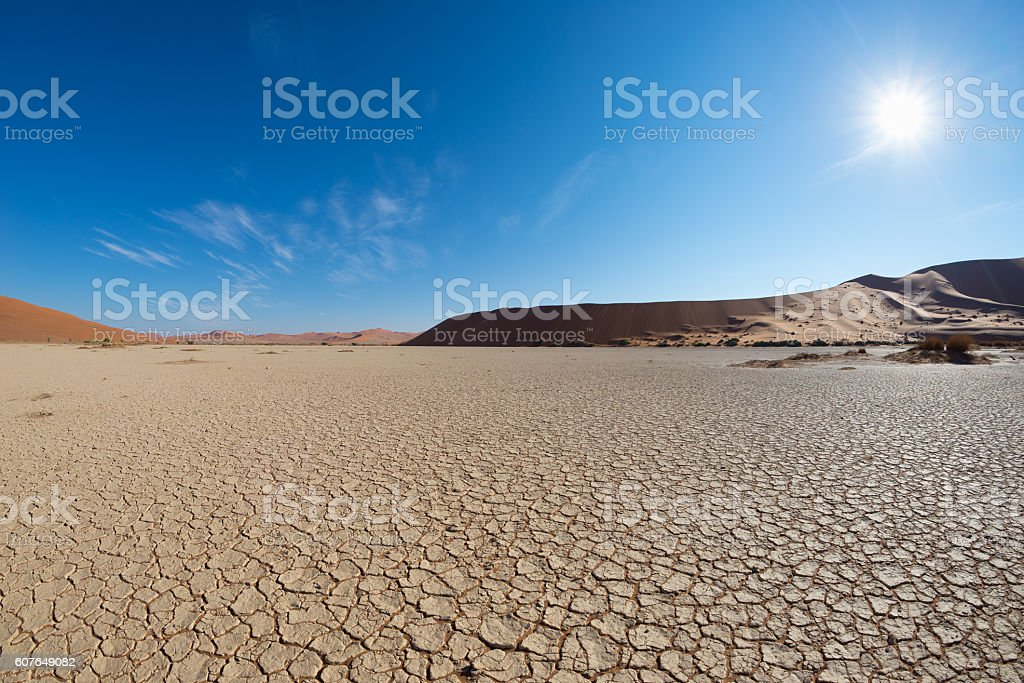 Sossusvlei in backlight, Namibia, Africa stock photo