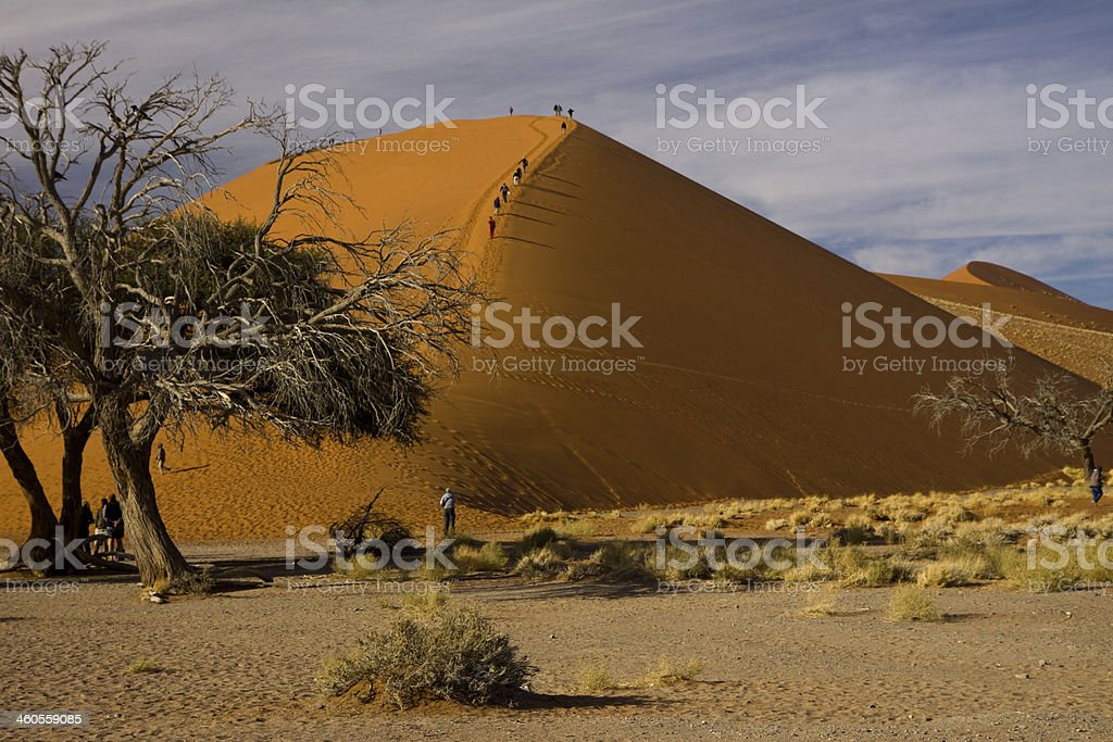 sossusvlei in namibia royalty-free stock photo