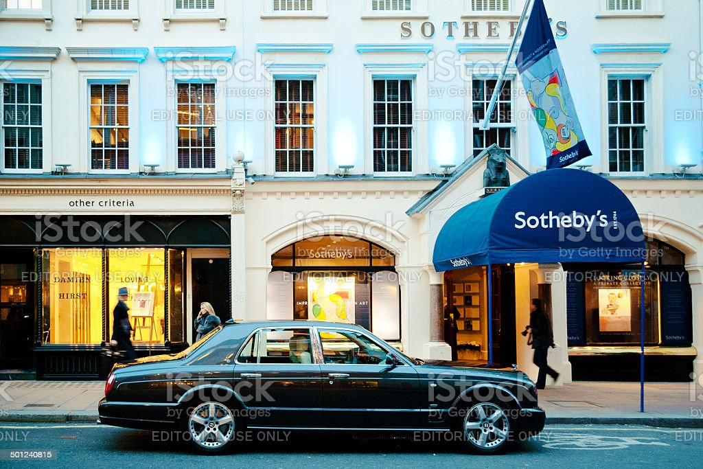 Sotheby's, London stock photo
