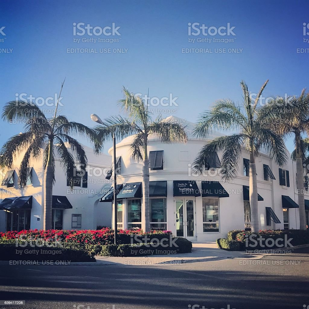 Sotheby's Real Estate Office in Providenciales. Turks and Caicos stock photo