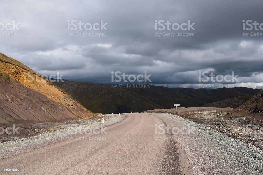 Sotk Pass at border of Armenia and Nagorno-Karabakh stock photo