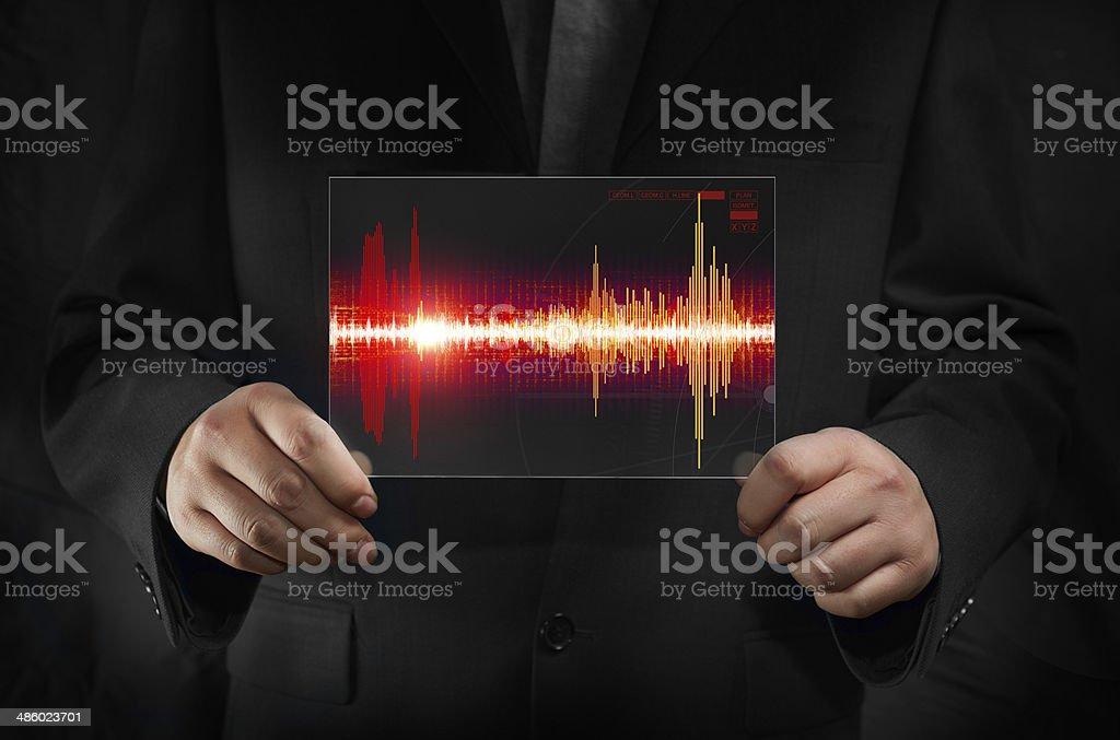 Soud Wave stock photo