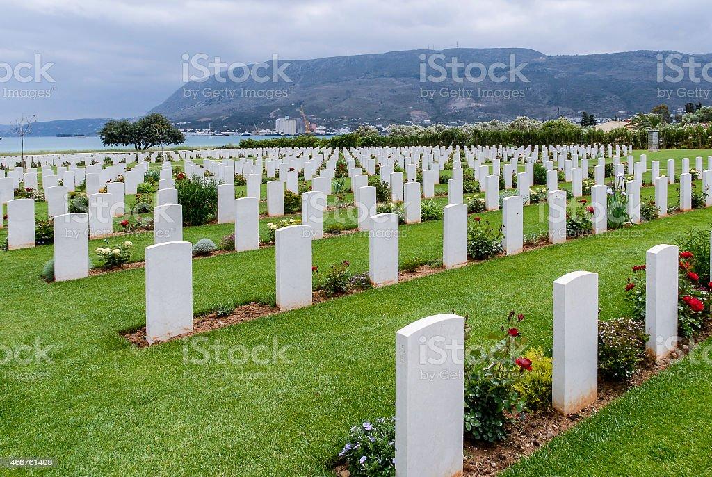 Souda Bay War Cemetery, Akrotiri Peninsula, Crete, Greece stock photo