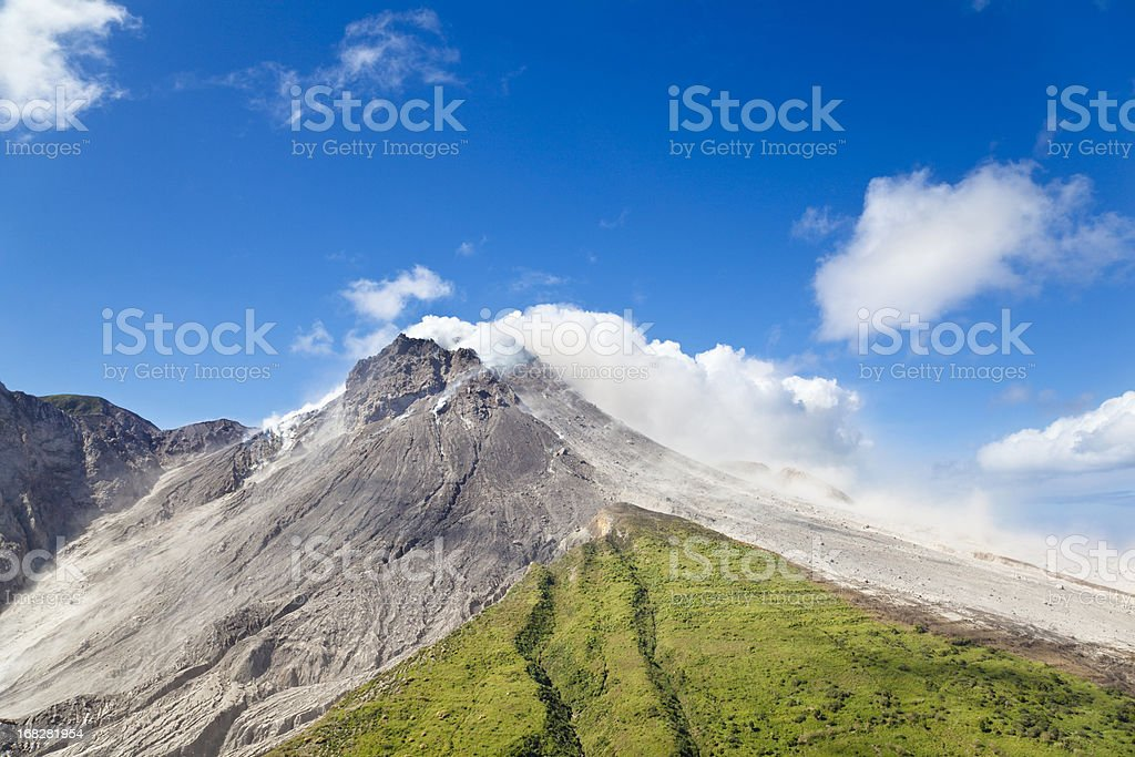 Soufriere Hills Volcano, Montserrat stock photo