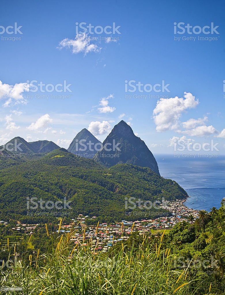 Soufrière stock photo
