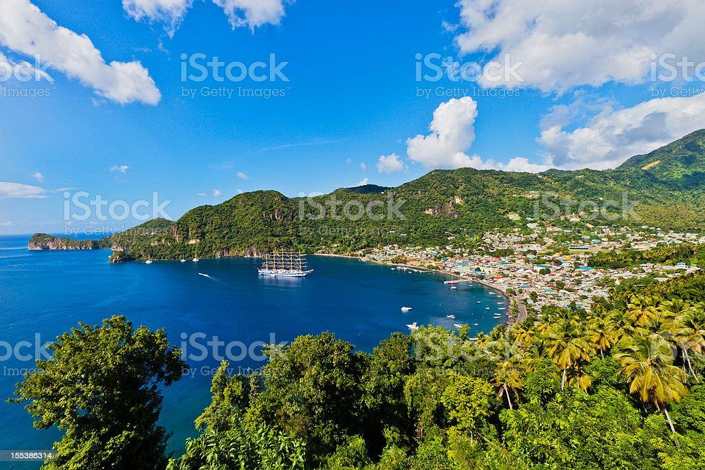 Soufrière, Saint Lucia stock photo