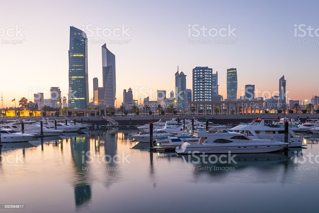 Souk Sharq Marina in Kuwait stock photo