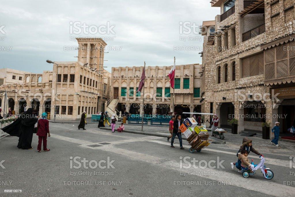 Souk Waqif in Doha, Qatar stock photo
