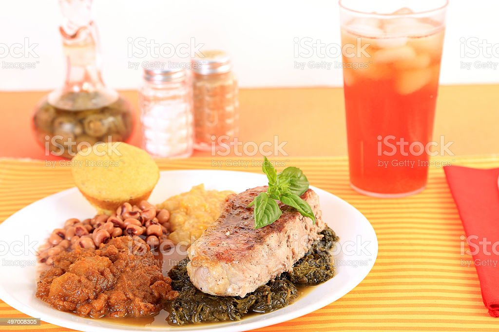 Soul Food Dinner stock photo