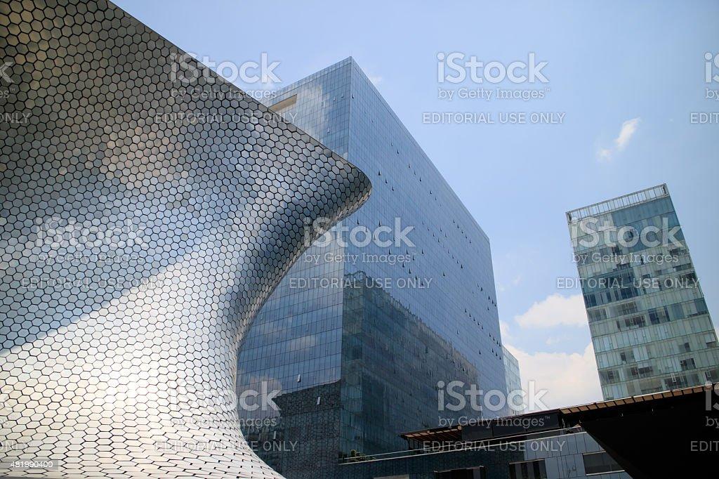 Soumaya and Carso Buildings stock photo