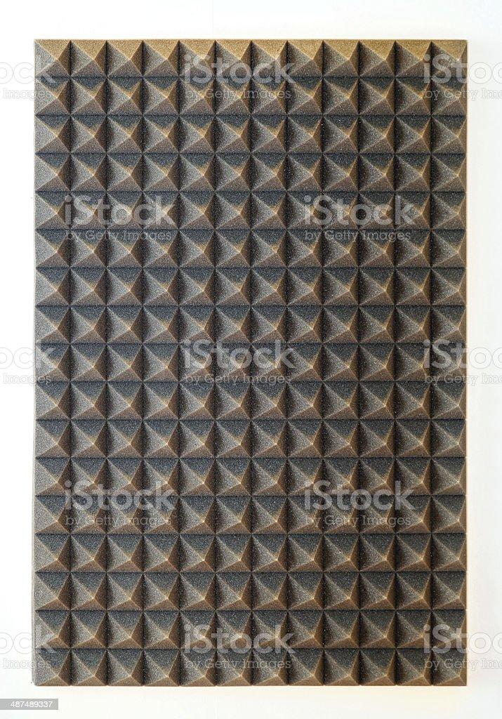 Sound absorbing sponge stock photo