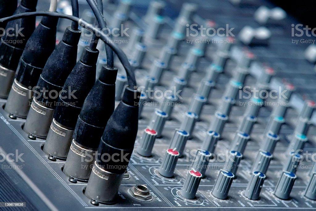 Sound Board close-up stock photo