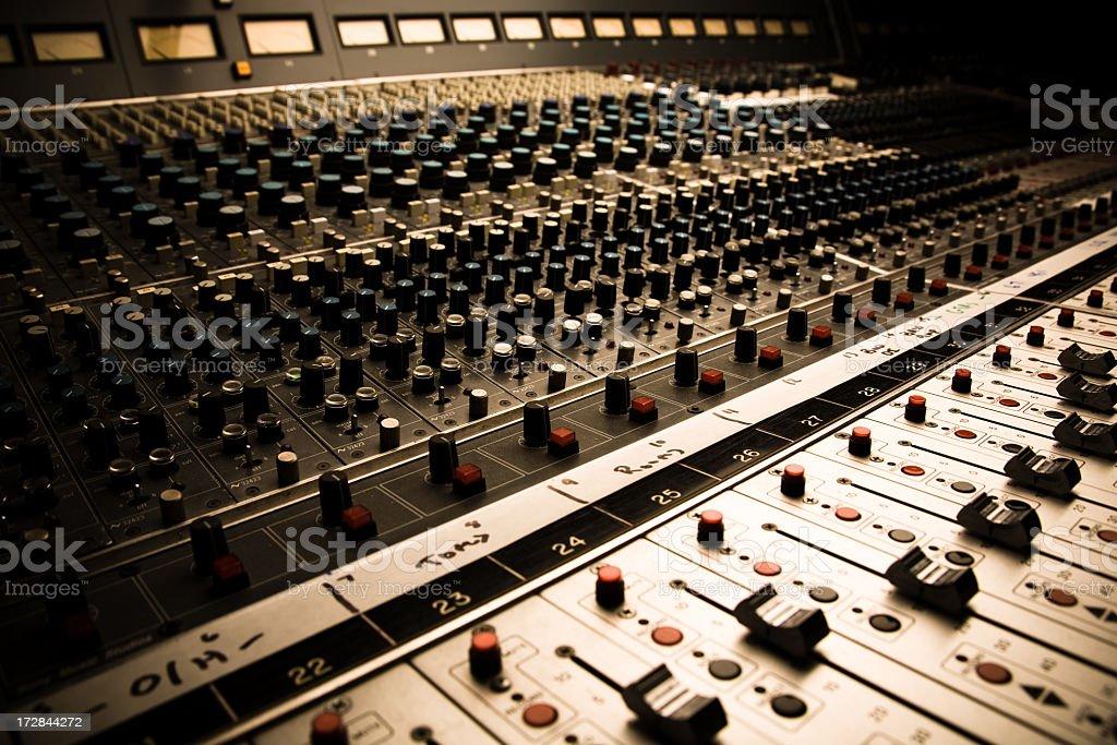 Sound Board In Color stock photo