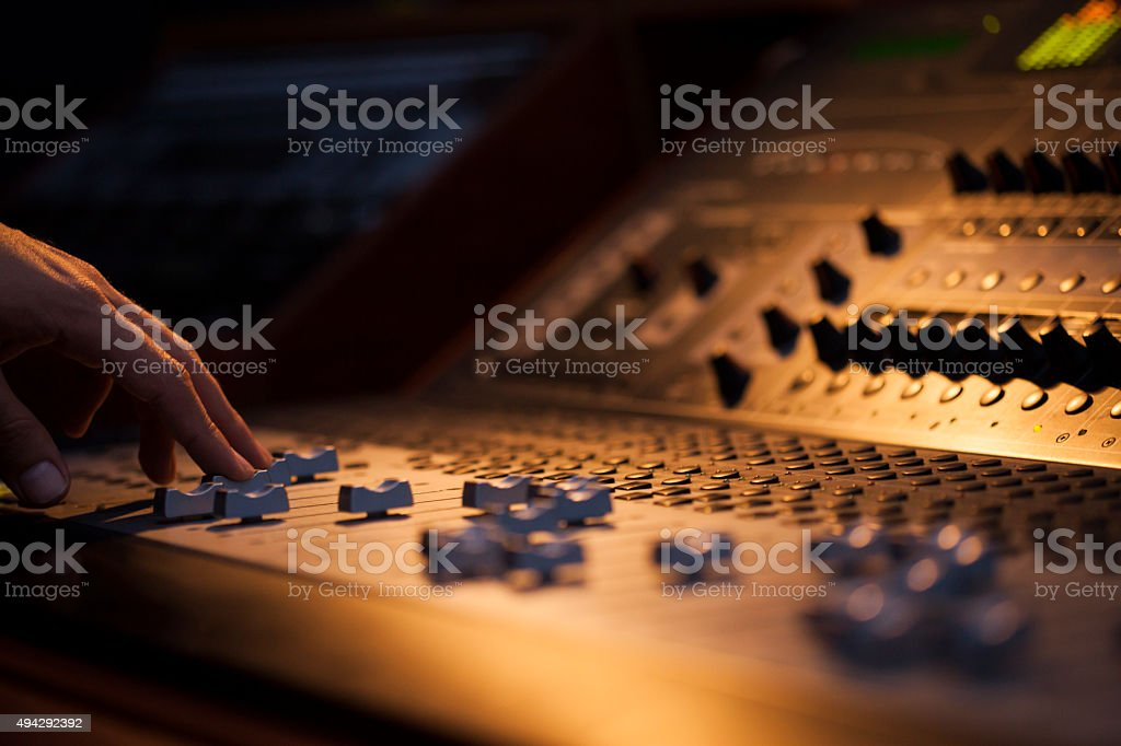 Sound Board Macro stock photo