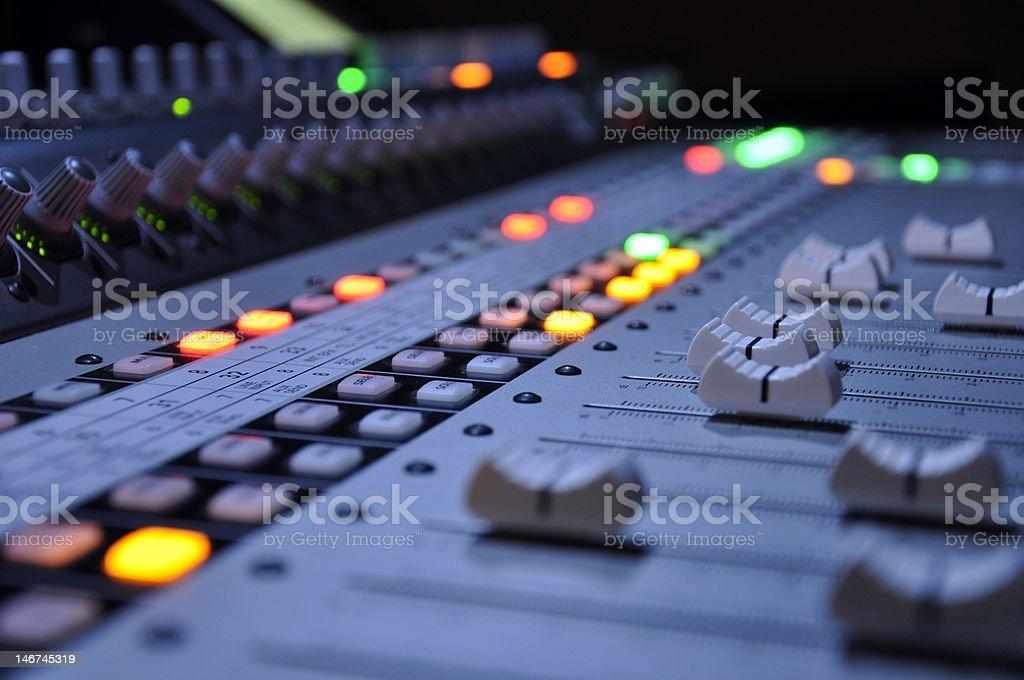Sound Board royalty-free stock photo