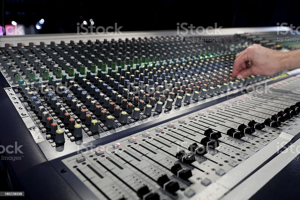 Sound Board royalty-free stock photo