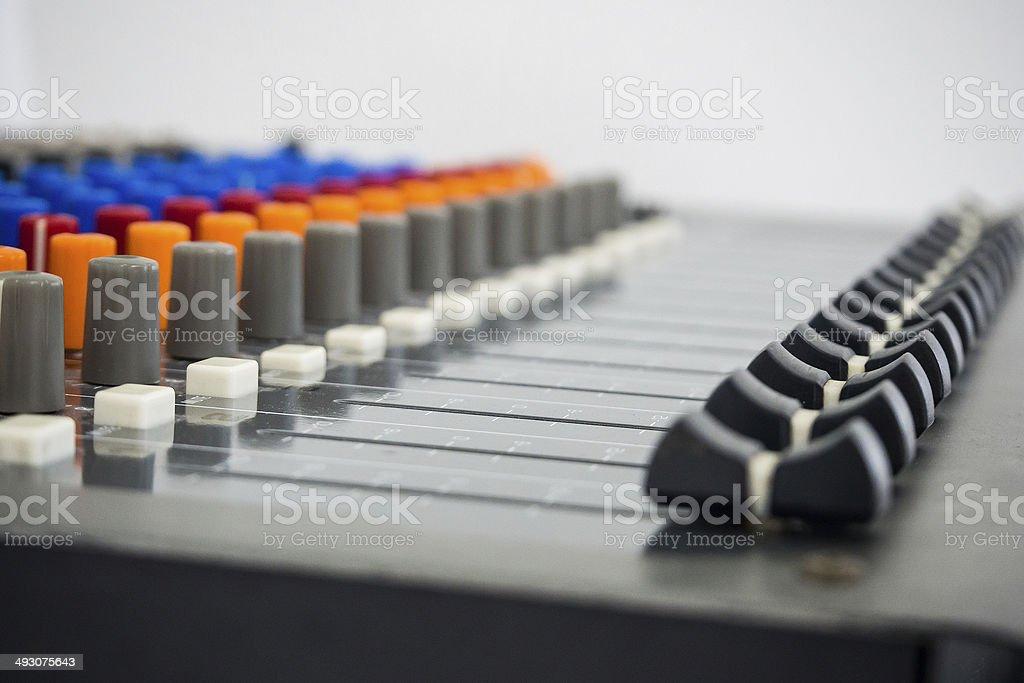 Sound Board - Stock Image stock photo