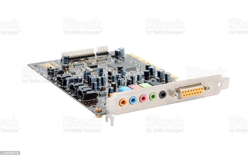 Sound card for computer stock photo