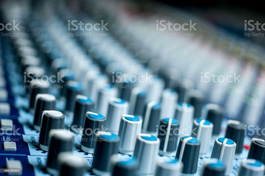Sound Console Knobs 2 stock photo
