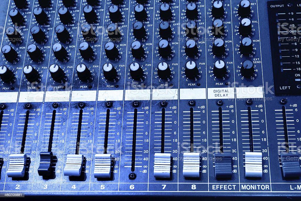 sound console stock photo