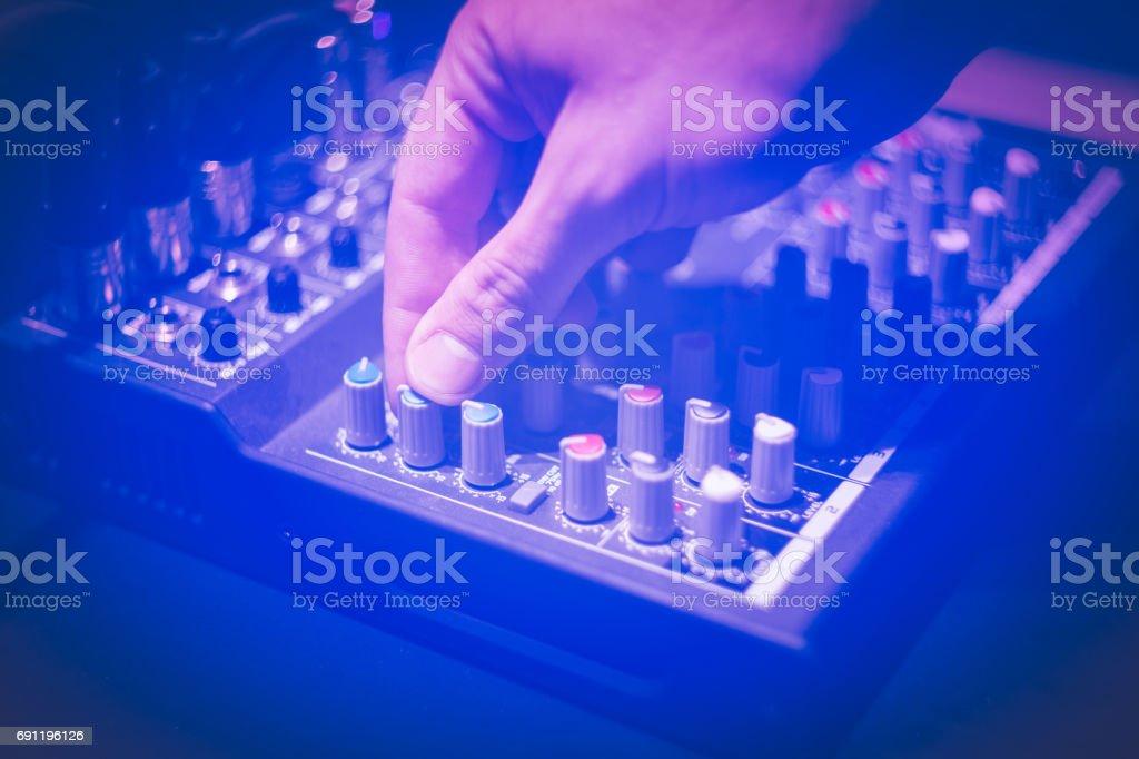 sound controler / sound mixer stock photo