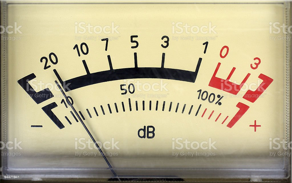 sound decibel meter stock photo