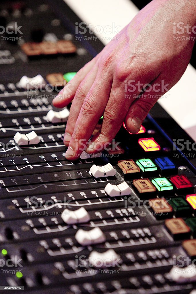 Sound Desk royalty-free stock photo