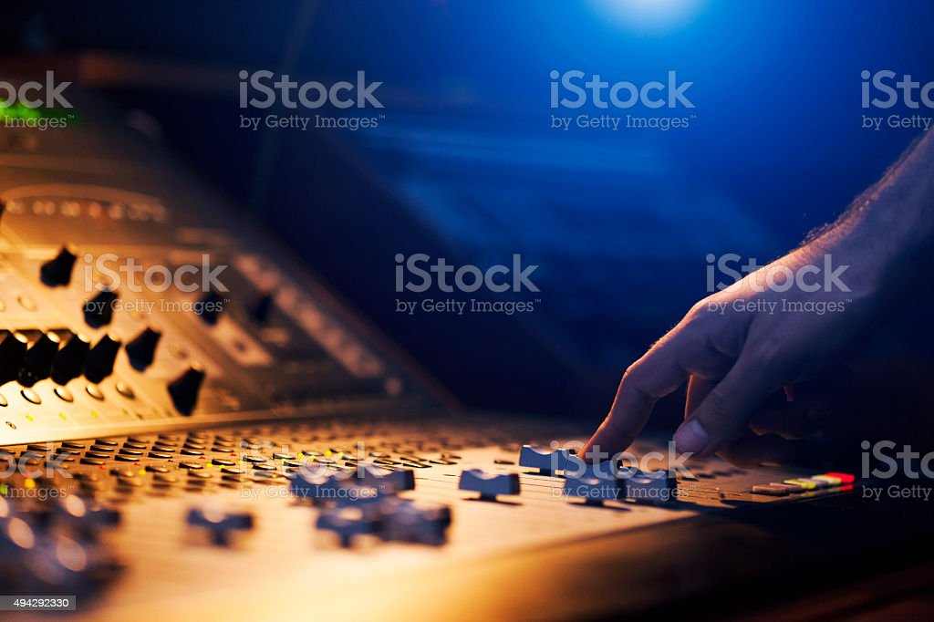 Sound Engineer Hand stock photo